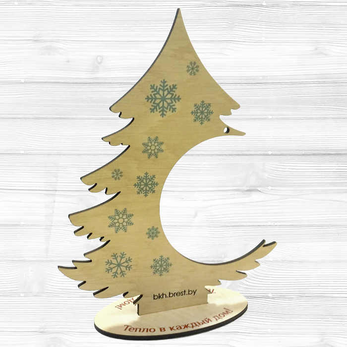 Настольная новогодняя ёлка из дерева